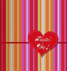 Valentine colourful heart card vector