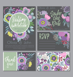 wedding collection templates vector image