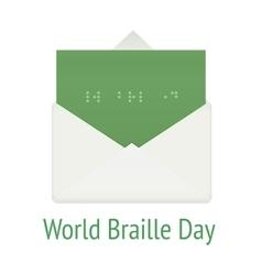 World braille day concept envelope vector