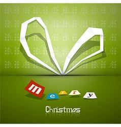 Abstract Christmas ribbon theme Merry Christmas vector image vector image