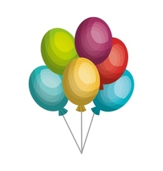 Colorful air balloons isolated flat icon vector image