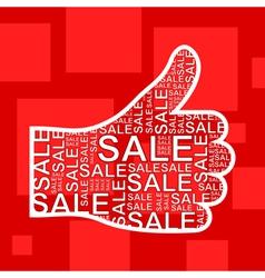 Hand sale vector image vector image