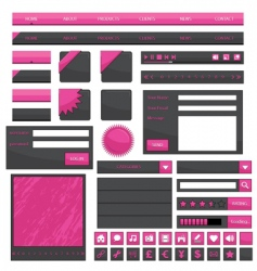 pink web objects vector image vector image