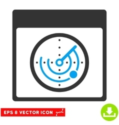 Radar calendar page eps icon vector