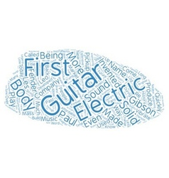 The history of the electric guitar how music was vector