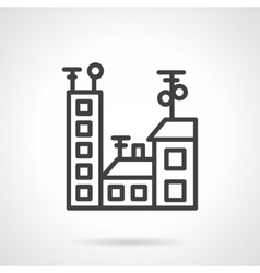 Black line city icon vector image