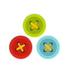 Buttons for sewing icon flat style vector