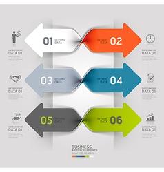 Modern arrow business spiral infographics vector image vector image