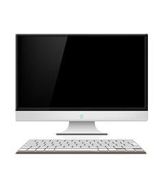 Monitor and keyboard vector image