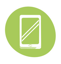 smartphone technology communication icon color vector image