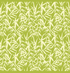 bamboo seamless japanese pattern on green vector image vector image