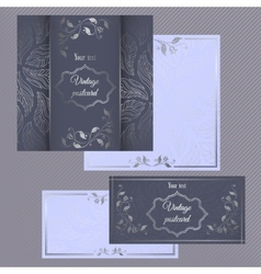 Greeting and invitation cards Cover with silver vector image