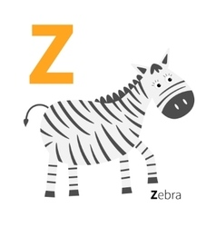 Letter zoo alphabet english abc with animals vector