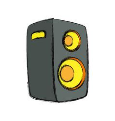 Music party speaker vector