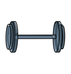 drawing dumbbell gym equipment sport image vector image