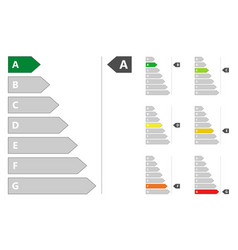 energy efficiency sign vector image