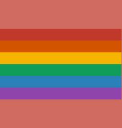 Lgbt rainbow flag vector