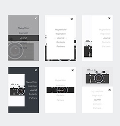 Minimalistic hipster UI Kit for designing vector image vector image