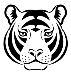 Tiger face symbol vector image vector image