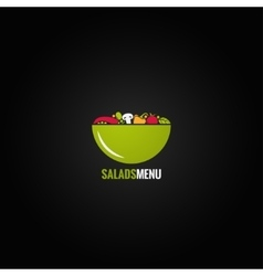 vegetables design salad background vector image