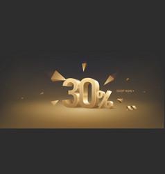 30 percent off discount sale vector image