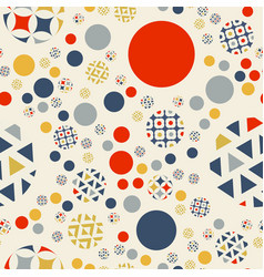 Abstract geometric seamless pattern circles vector