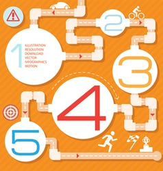 Action steps painted a labyrinth vector image