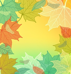 Autumn Background with fallen leaves vector