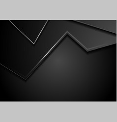 black abstract corporate background with shiny vector image
