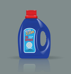 blue laundry detergent bottle mock up with high vector image