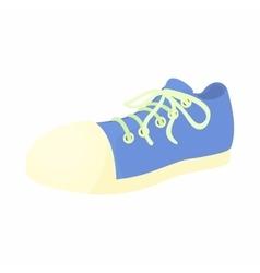 Blue sneaker icon cartoon style vector image