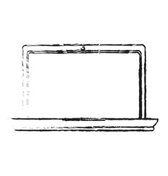 Blurred silhouette image laptop computer tech vector