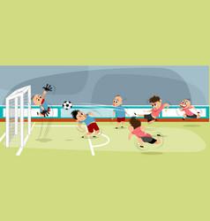 boys at playing football vector image