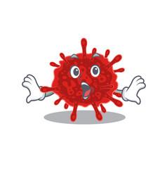 Cartoon buldecovirus making a surprised gesture vector