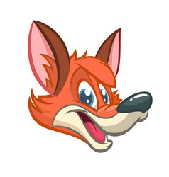 cartoon of red smiling fox vector image