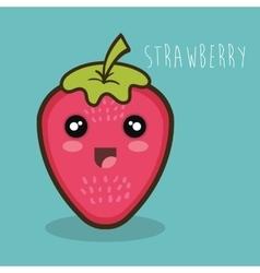 Cartoon strawberry fresh graphic design vector