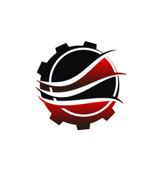 cnc service logo design template vector image