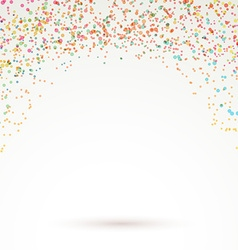 Colorful bright confetti carnival background vector image