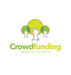 Crowdfunding mercy logo vector