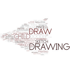 Draw word cloud concept vector