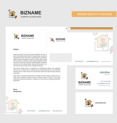 electric power business letterhead envelope and vector image