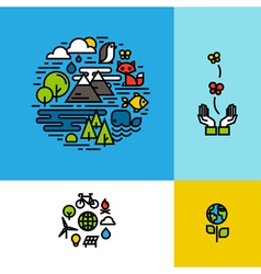 Environment ecology green planet concept vector