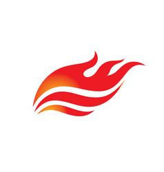 fire - logo template concept vector image