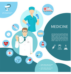 flat medicine composition vector image