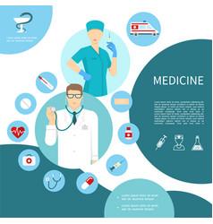 flat medicine composition vector image