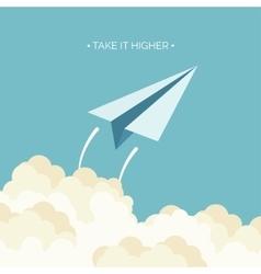Flat paper plane Launch vector image