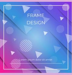 geometric dynamic diagonal blue pink background vector image