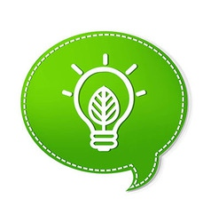 Green Speech Bubbles With Lamp Symbol vector image