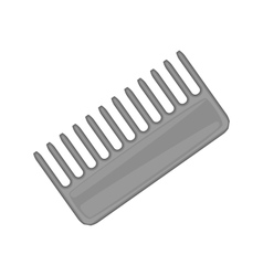 Hairbrush barber comb icon black monochrome style vector image