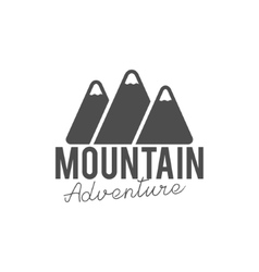 Hand drawn mountain badge Wilderness old style vector image